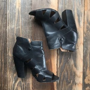 Cut out zip up booties